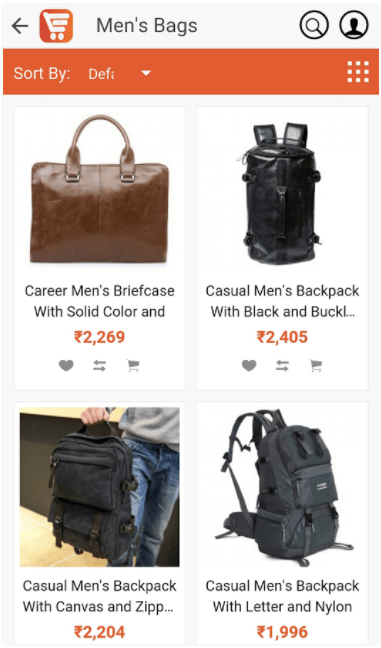 Android app for Online store