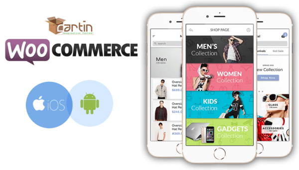 Free WooCommerce mobile App - iOS Android - Cartin App Store
